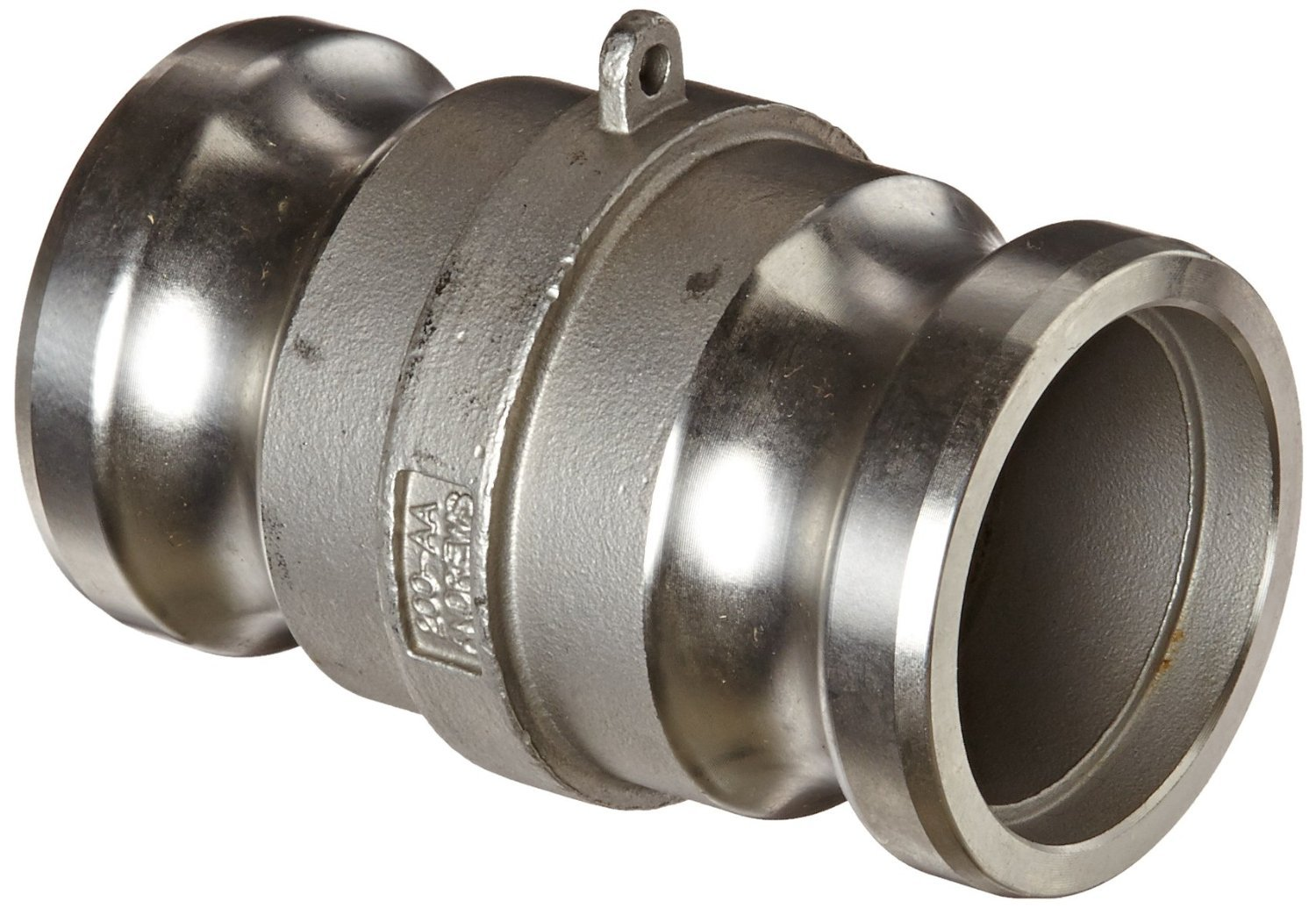 Dixon 200-AA-SS Stainless Steel 316 Cam and Groove Hose Fitting, Spool Adapter, 2'' Plug