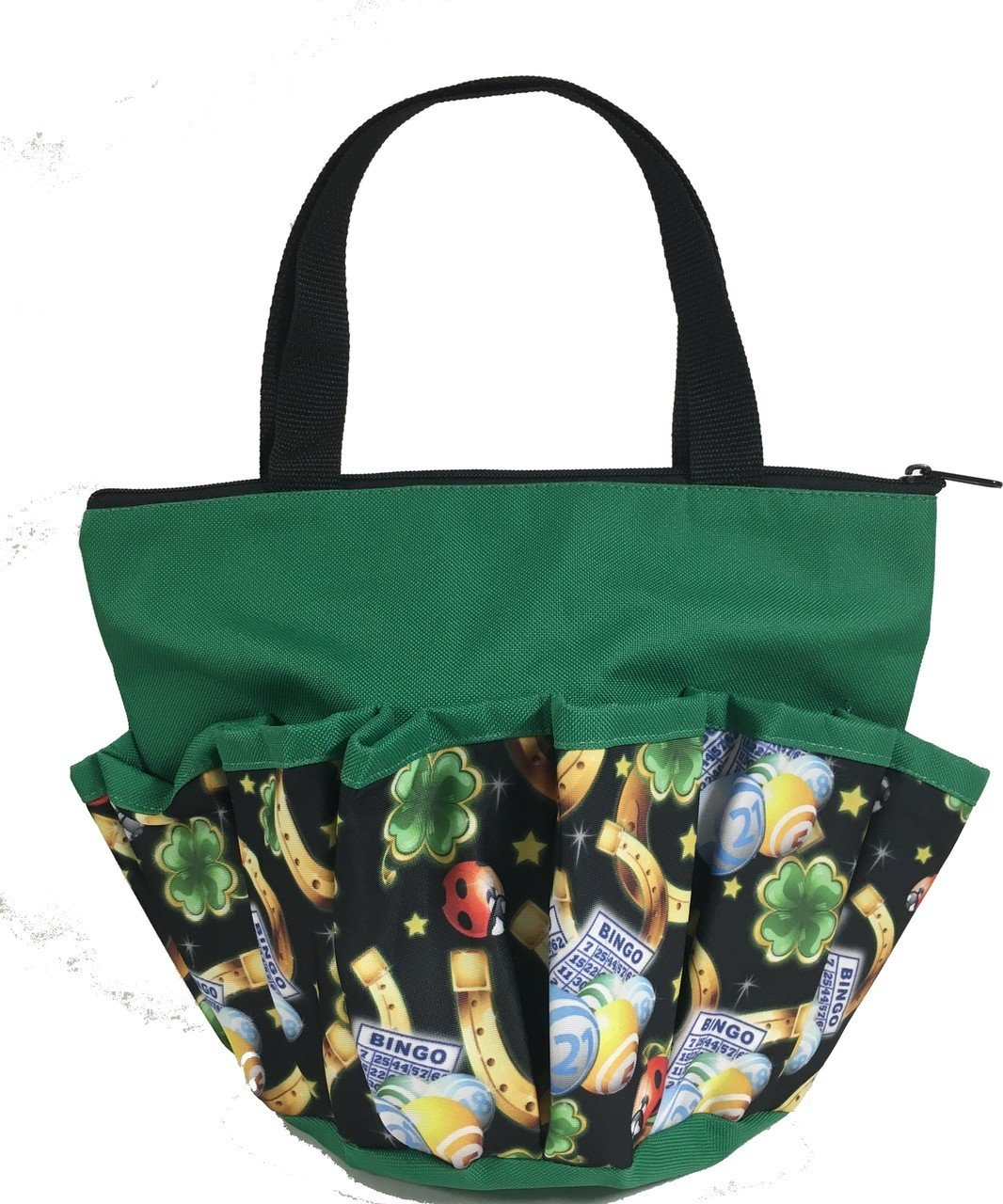 10 Pocket Lucky Charms Green Zipper Bingo Bag by United Novelty (Image #1)