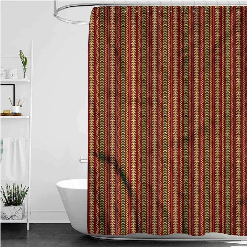 Interestlee Oriental Rustic Shower Curtain Folklore Motif Polyester Stall Bathroom Curtain, 40 x 72 Inch
