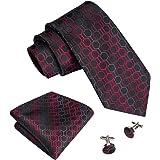 Barry.Wang Designer Mens Ties Pocket Square Cufflinks Tie Set Neckties Jacquard