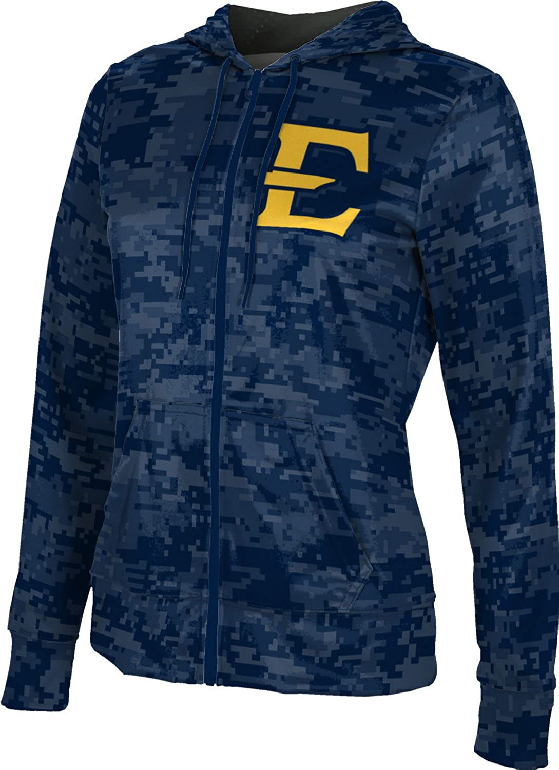 School Spirit Sweatshirt ProSphere East Tennessee State University Girls Zipper Hoodie Digi Camo