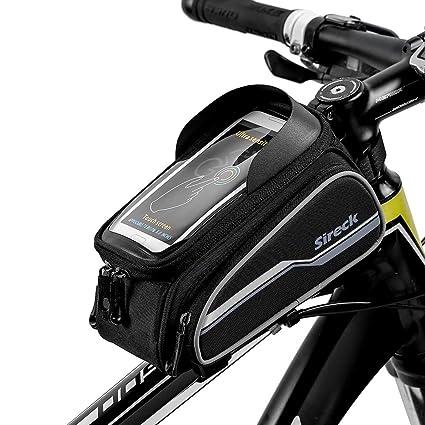 Amazon Com Sireck Bike Bag Cycling Tube Front Frame Bag Bicycle