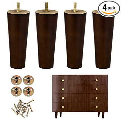 Fabulous One Sight Wood Furniture Legs 5 Inch Furniture Leg Wood Sofa Legs Replacement Legs For Armchair Cabinet Couch Dresserset Of 4 Complete Home Design Collection Epsylindsey Bellcom