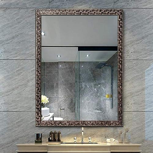 H A Wall Beveled Mirror Framed – Bedroom or Bathroom Rectangular Frame Hanging Horizontal Vertical Black 26 X 38