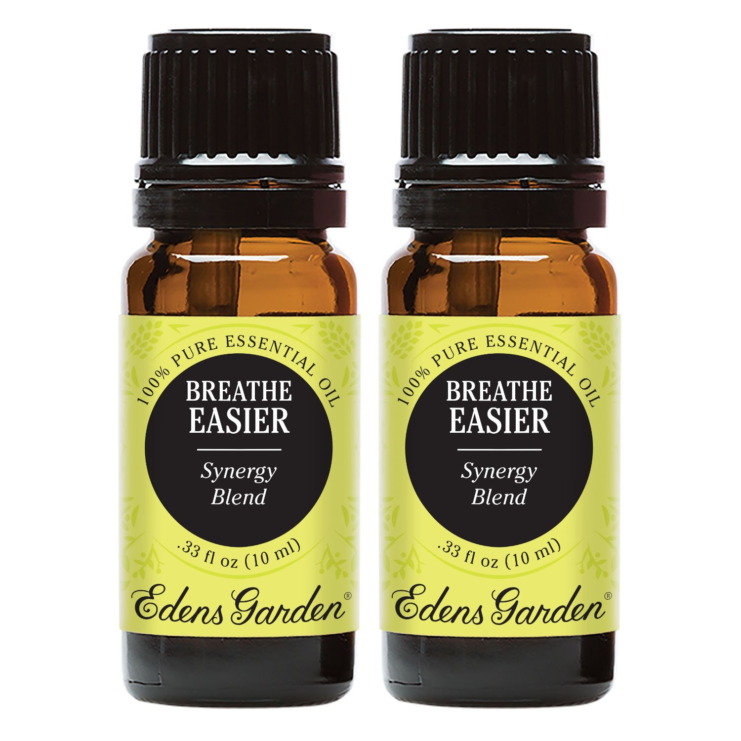 Edens Garden Breathe Easier Essential Oil Synergy Blend, 100% Pure Therapeutic Grade (Allergies & Congestion) 10 ml Value Pack