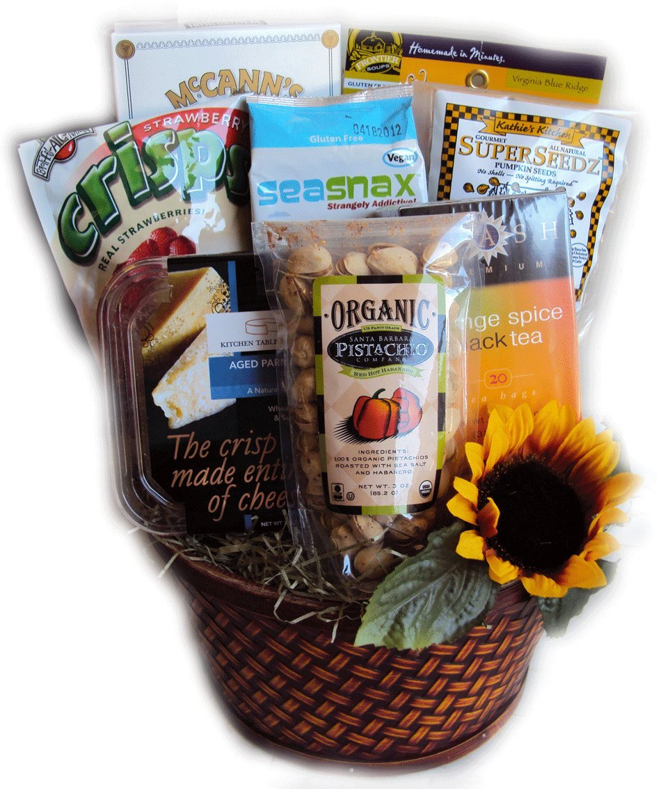 Diabetic Healthy Birthday Basket for Her by Well Baskets