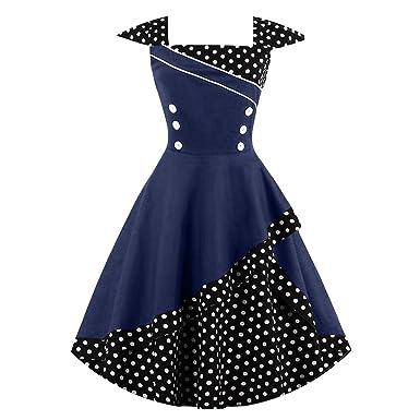 Women S-4XL Vintage Dress Rockabilly Feminino 50s 60s Bown Polka Dot Party Dresses,
