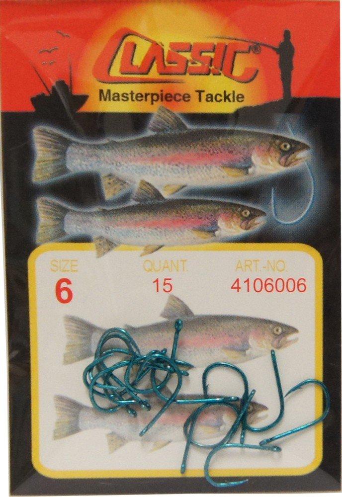 VMC Perfect Forelle gebundene Forellenhaken 60cm Vorfachlänge Trout Forellensee