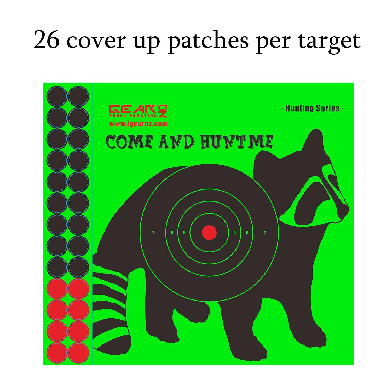 GearOZ Splatter Shooting Target Stickers-Green Splatter Impacts Paper Target Stickers-High Visibility