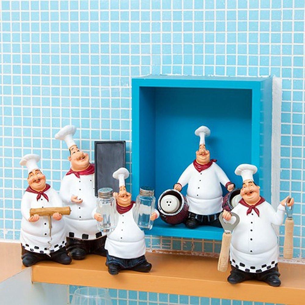 Amazon.com: FishMM Resin Decorative Ornaments,Kitchen Decor,Cook ...