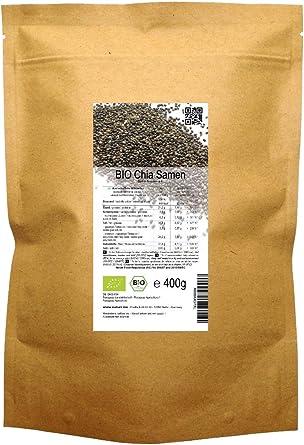 BIO las semillas de Chía («Salvia hispanica»)  400 g: Amazon.es: Alimentación y bebidas