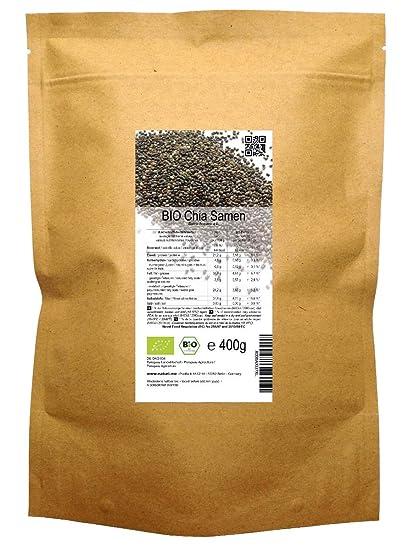 BIO las semillas de Chía («Salvia hispanica») 400 g