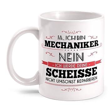 Fashionalarm Tasse Mechaniker Beidseitig Bedruckt Mit Spruch