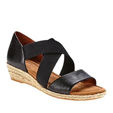 Comfortiva Brye Women US 7 W Black Wedge Sandal