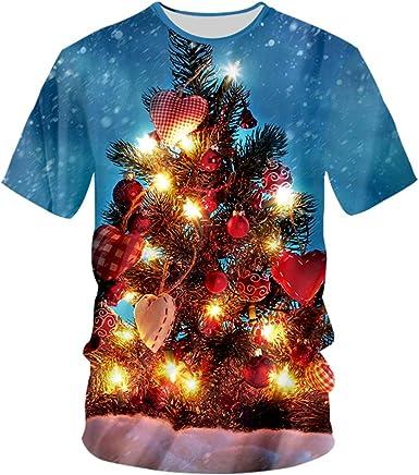 Verano Top Imprimir ÁRbol De Navidad Regalo Camisetas 3D ...