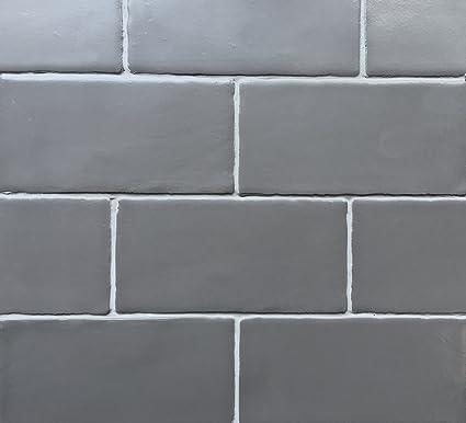 3x6 Graphite Dark Gray Matte Glazed Subway Ceramic Tile Backsplashes Walls  Showers