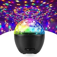 Fochea Led-discobal, voor kinderen, partyverlichting, led-projectorlamp, verlichting, muzieklichteffecten, met…