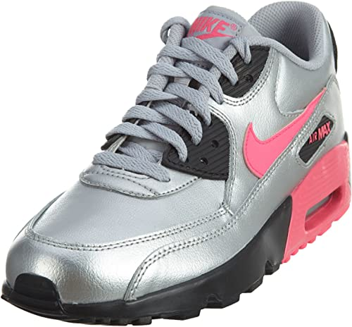 Nike Air Max 90 Big Kids' Leather Shoes Thunder BlueBlue Nebula 833412 407
