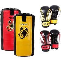 Boxset für Kinder Jugendliche, Boxsack + Boxhandschuhe, Farbe Rot/Schwarz oder Gelb/Schwarz in 2, 2,5 und 3 Fuß