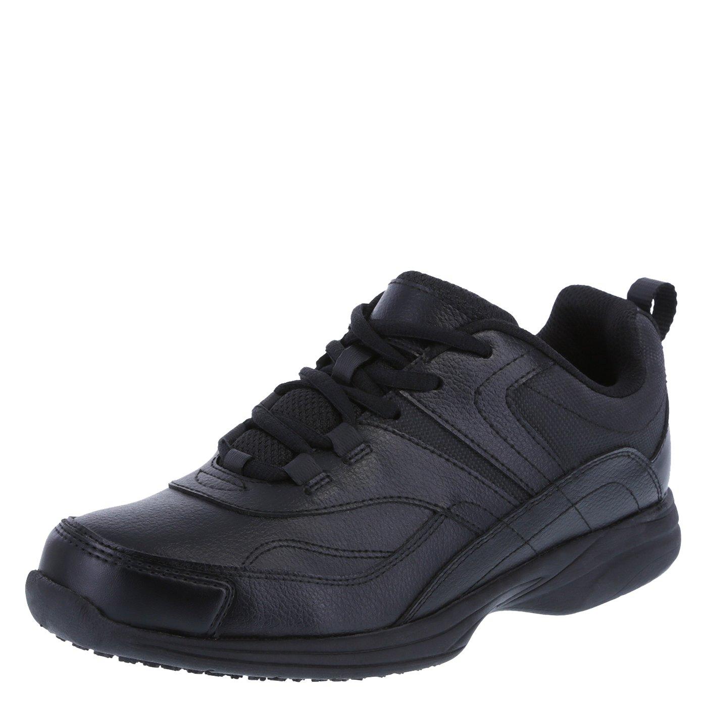 safeTstep Slip Resistant Women's Black Women's Athena Sneaker 6 Wide