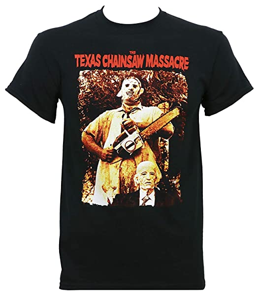 Texas Chainsaw Massacre Leatherface And Grandpa T-shirt Black