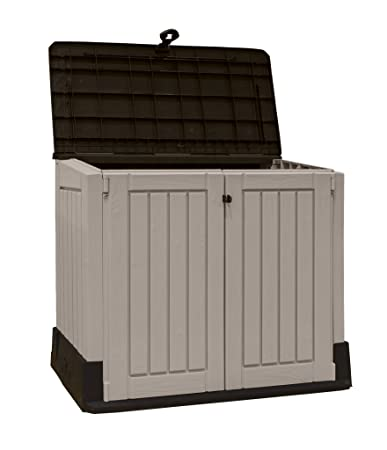 Amazon Keter Store It Out MIDI 43 X 25 Outdoor Resin Horizontal Storage Shed Portable Patio Lawn Garden