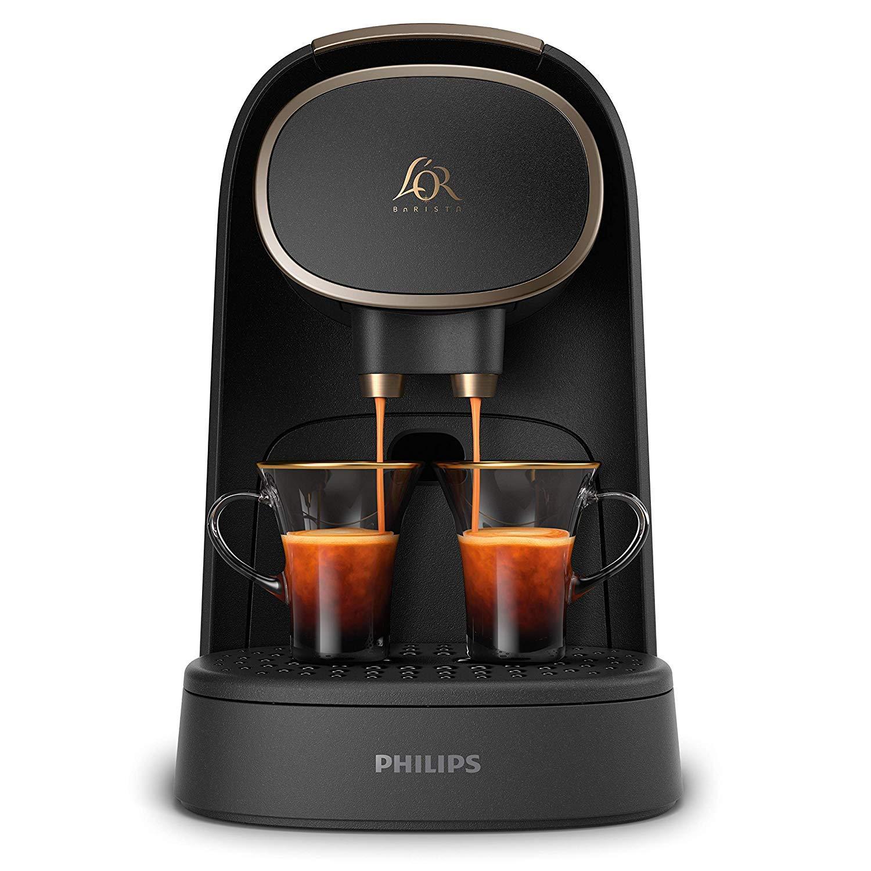 Pack Philips LOR Barista LM8016/90 - Cafetera compatible con cápsula individual/doble, 19 bares presión, depósito 1L, acabado Premium + LOr Espresso ...