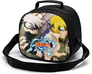 Reusable Food Storage,NARUTO Anime Character Poster Insulated Bag, Lunch Bag Cooler Bag Tote Bag Lunch Box Water Resistant Children's Meal Bag Thermal Lunch Bag Soft Liner Lunch Bags for Fishing