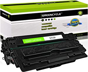 GREENCYCLE Compatible Toner Cartridge Replacement for HP 16A Q7516A Use for Laserjet 5200 5200n 5200tn 5200dtn 5200L Printer (High Yield, Black, 1-Pack)