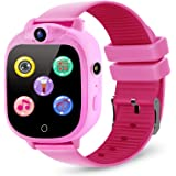 PROGRACE Kids Smart Watch with 90°Rotatable Camera Smartwatch Touch Screen Kids Watch Music Pedometer Flashlight FM Radio Gam