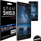 TECHGEAR [Pack of 2] Nokia 8 [ghostSHIELD Edition] Genuine Reinforced TPU Screen Protector Guard Covers with FULL Screen Coverage including Curved Screen Area [3D Curved Edges Protection]