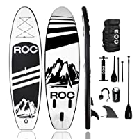 Deals on Roc Inflatable Stand Up Paddle Boards W Free Premium SUP Accessories