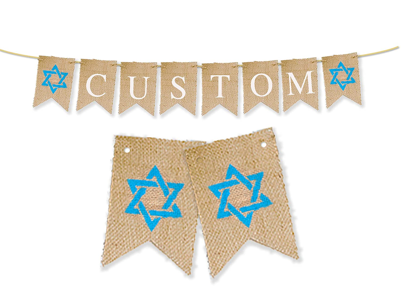 Star of David Personalized Banner Custom Bar Mitzvah D/écor