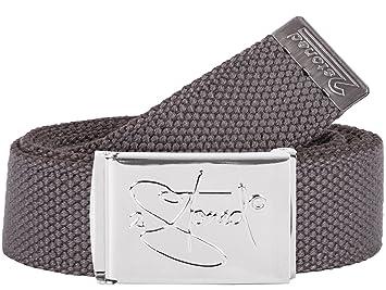 851c1f5f3cb604 2Stoned Hosengürtel Schmal Grau, Chromschnalle Classic, 3 cm breit,  Textil-Gürtel für