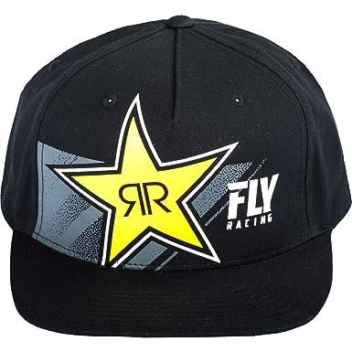 d81929256a8 ... inexpensive fly racing black rockstar mens flexfit snapback hats 49072  006fb