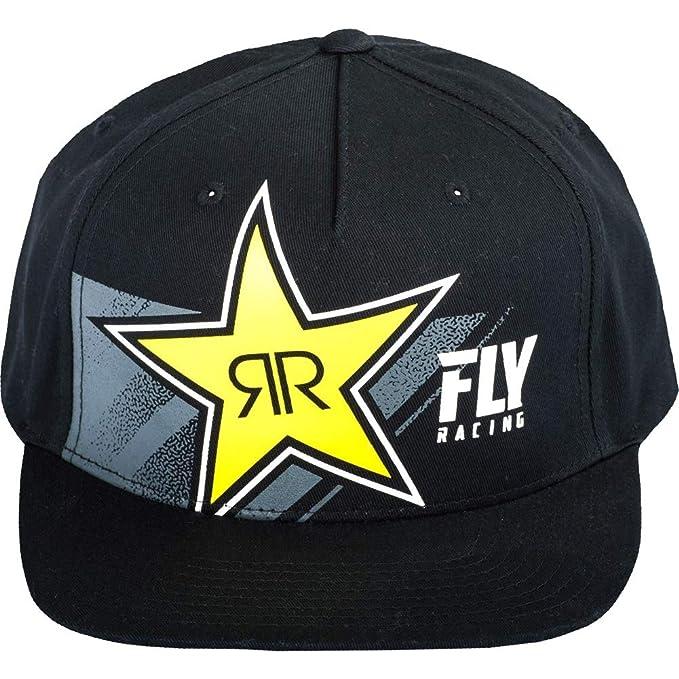 Amazon com: Fly Racing Black Rockstar Mens Flexfit Snapback