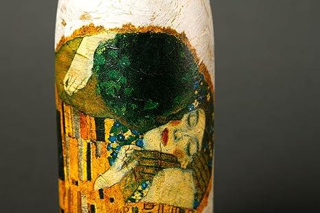 Botella de vidrio para vino hecha a mano regalo original decoracion de cocina: Amazon.es: Hogar
