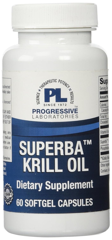 Progressive Labs Superba Krill Oil Supplement 60 Count H2 Health Personal Care