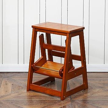 Amazon De Massivholz Leiter Treppenleiter Leiter Stuhl Home Folding