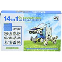 magnifico™ 14 in 1 Solar Robot Kit Educational DIY Toy Assembled Puzzle Toys Car Boat Animal Blocks for Kid boy Girl Gift Skill Development Toys