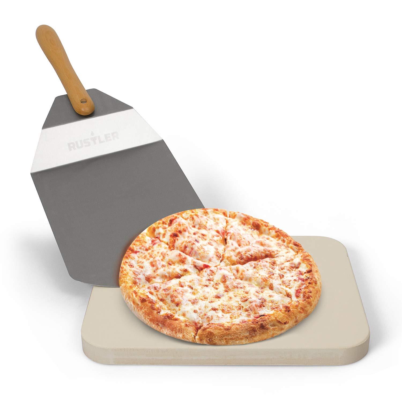 Rustler Piedra para Pizza de Acero Inoxidable, Beige, 38 x 30 cm ...