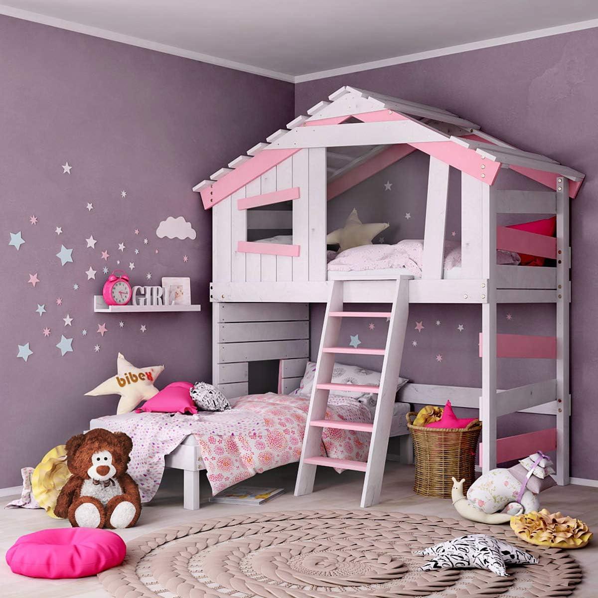 Cuna para niños y jóvenes, cama para niñas, cama doble, litera ...