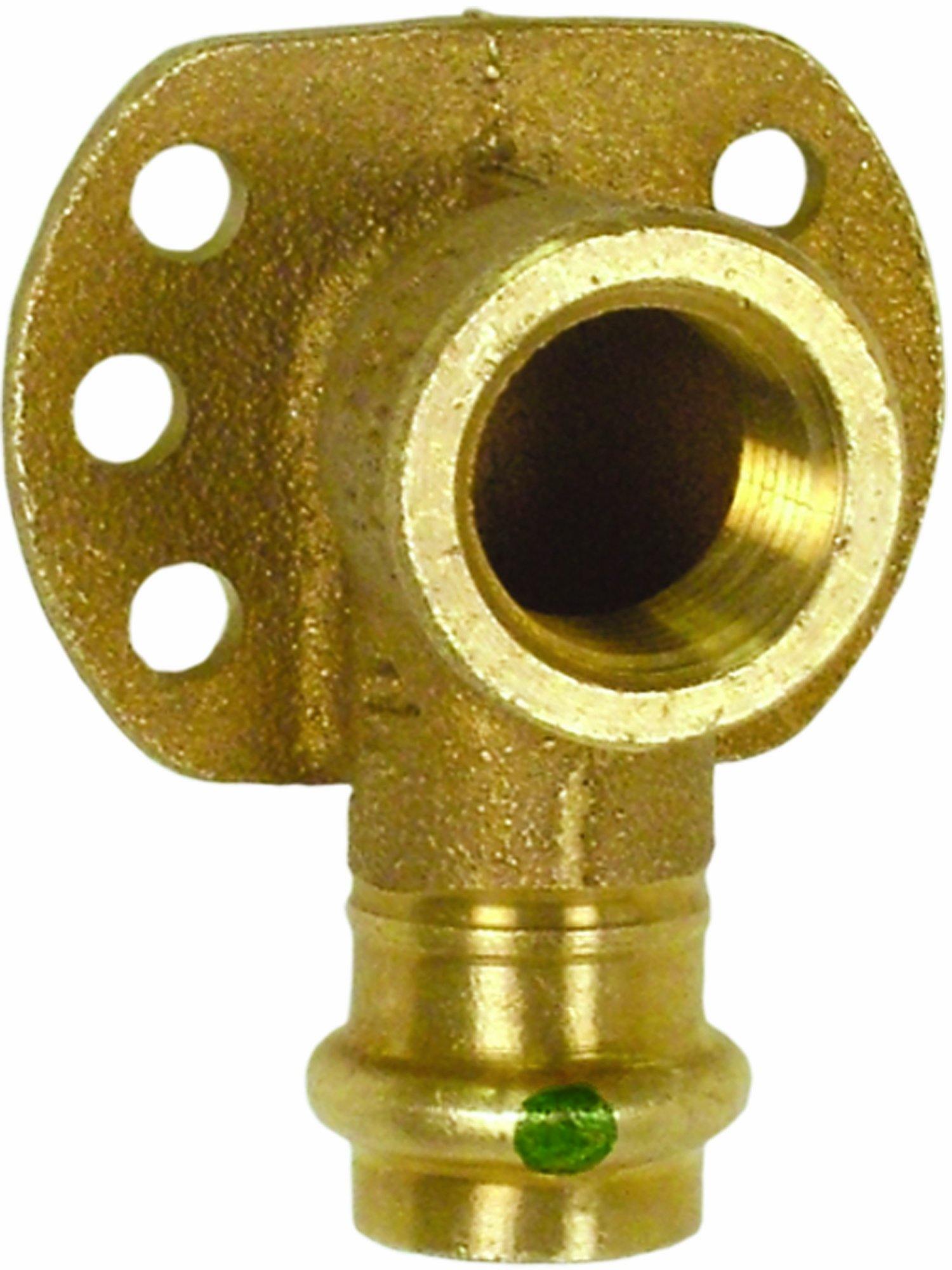 Viega 77697 ProPress Bronze 90-Degree Elbow Drop 90-Degree with Wall Plate with Female 1/2-Inch by 1/2-Inch P x Female NPT
