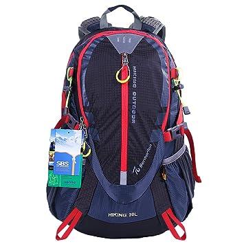 EGOGO 30L mochila de senderismo al aire libre ciclismo resistente al agua corriendo mochila escaladacon lluvia cubierta S2310 (Negro): Amazon.es: Deportes y ...