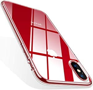 TORRAS Crystal Clear Designed for iPhone Xs Case/iPhone X Case [10X Anti-Yellowing] [2X Anti-Scratch] Thin Slim Soft Silicone Shockproof Phone Case Designed for Apple 5.8'', Clear