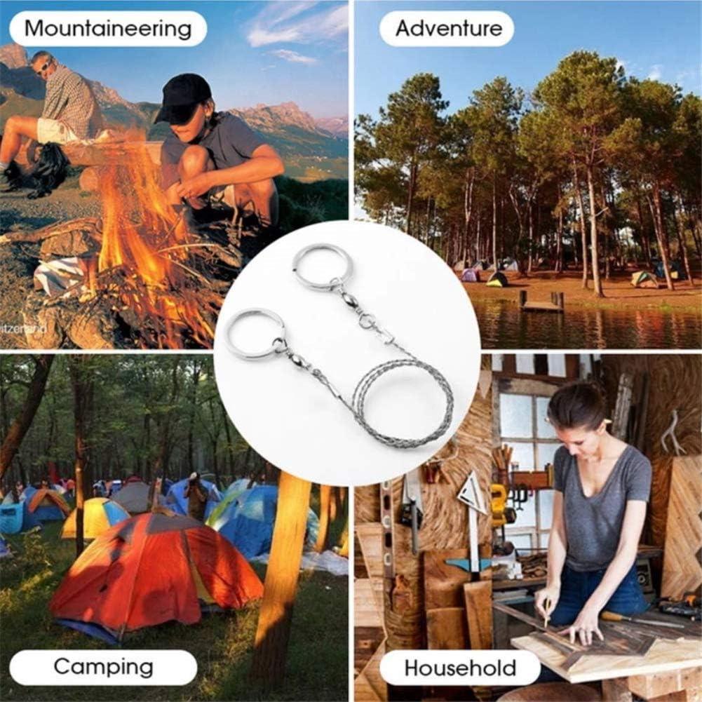 Scie /à fil de survie,mini-lame de scie /à cha/îne portative multifonctionnelle Life Life,scie /à fil en acier inoxydable,pour le mat/ériel de survie,camping,chasse,coupe,kit durgence,cha/îne doutils