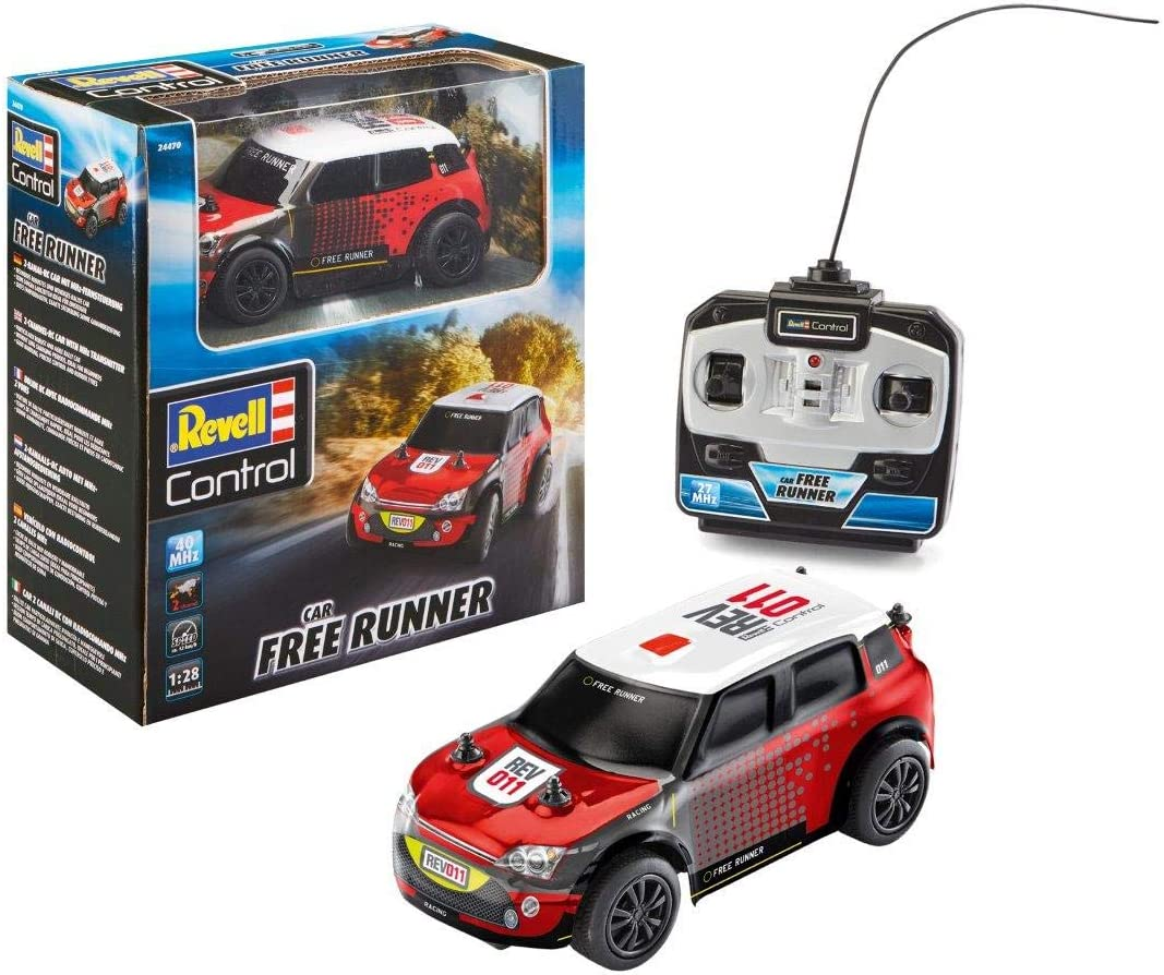 Revell Control-RC Rally Car Free Runner Coche de Control Remoto, Color Rosso (24470)