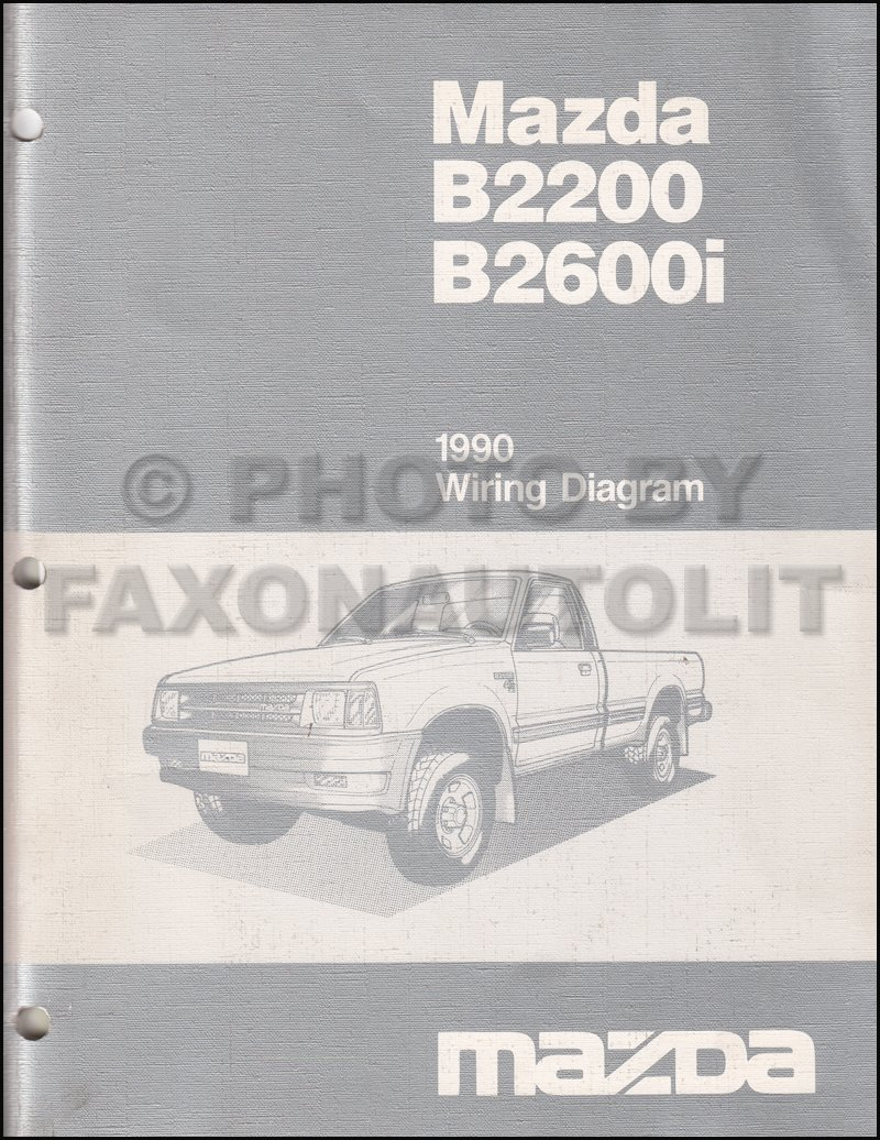 91 Mazda B2200 Wiring Diagram Library 1988 B2600 1990 B2600i Pickup Truck Manual Original Amazoncom