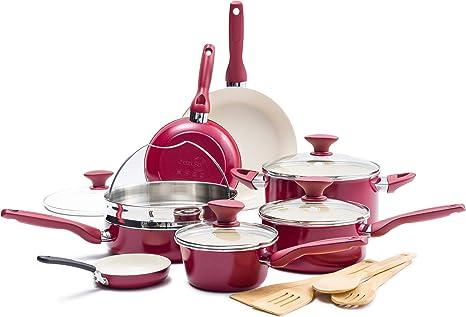 Red Frying Pan 12 GreenPan Rio Healthy Ceramic Nonstick