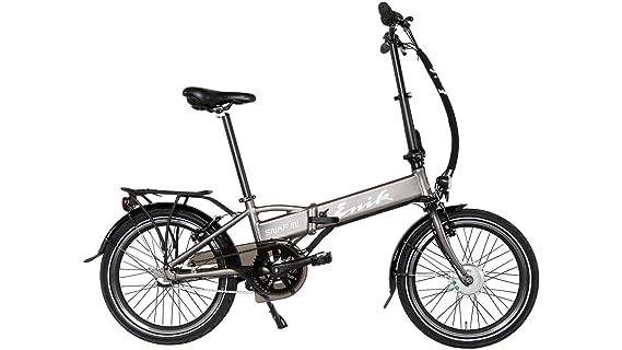 enik E-Bike bicicleta plegable para Snap-in 20, 20 pulgadas, 3 marchas, frontal del Motor, 317 WH 50,8 cm (20 pulgadas): Amazon.es: Deportes y aire libre